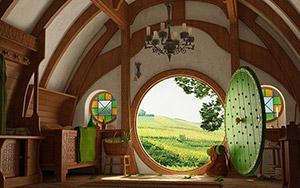 Hobbit-Haus innen