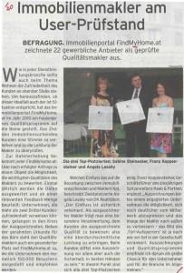 FindMyHome.at im Wirtschaftsblatt – 2012_06_08