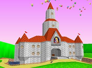Das Schloss von Prinzessin Peach