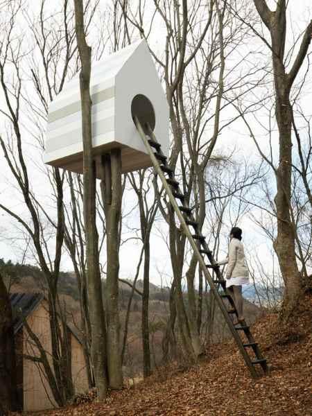 Vogelhaus Baumhaus mit Eingang für Menschen