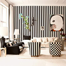 Zimmer in schwarz-weiss