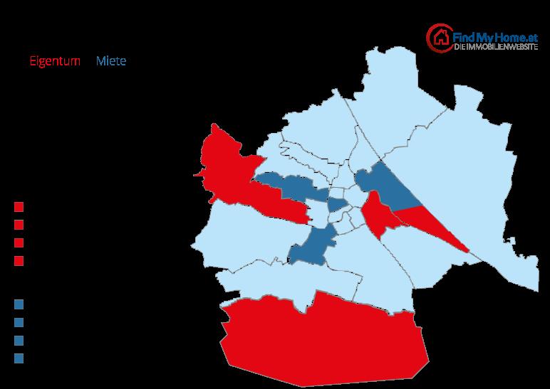 Grafik: Trendviertel in Wien