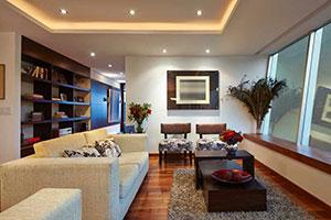 Innenansicht einer modernen Wohnung