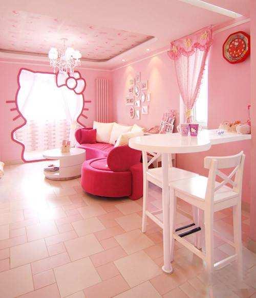 Zimmer im Hello Kitty Design