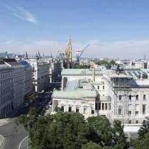 Blick auf Innenstadt-Bezirk in Wien