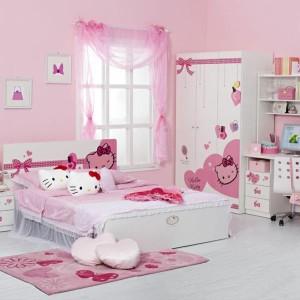 Ein schön rosa Hello Kitty Zimmer