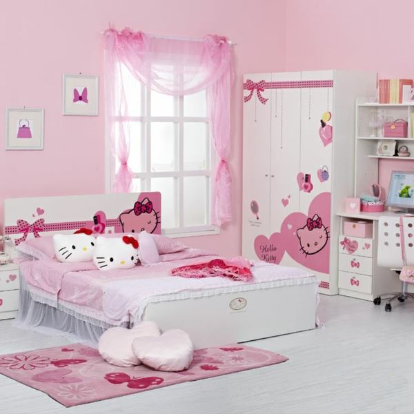 zu hause bei hello kitty white. Black Bedroom Furniture Sets. Home Design Ideas