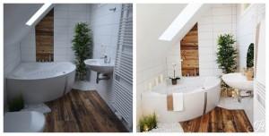 Home Staging Beispiel für ein Badezimmer