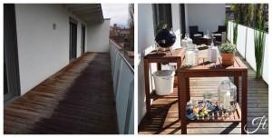 Home Staging Beispiel für einen Balkon