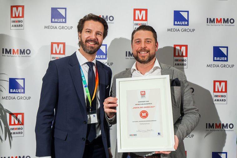 """FindMyHome.at Eigentümer Bernd Gabel-Hlawa erhält die Auszeichnung """"Bestes Immobilienportal Top 3"""""""