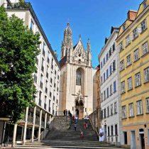 Wiener Innenstadt: Blick auf die Kirche Maria am Gestade