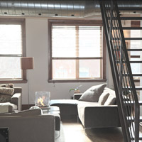 Blick in eine Wohnung