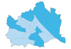 Grafik der Wiener Bezirke wo am meisten Immobilien gesucht werden