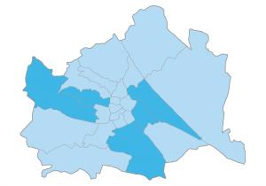 Grafik der Wiener Bezirke wo am meisten Immobilien angefragt werden
