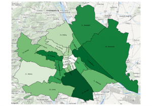 Grafik: Bezirke in Wien mit stärkstem Zuzug