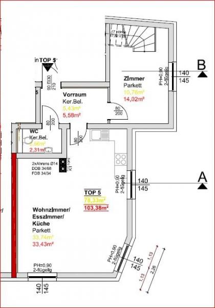 Erstbezug nach Sanierung- Maisonettenwohnung in Toplage /  / 1210Wien / Bild 8