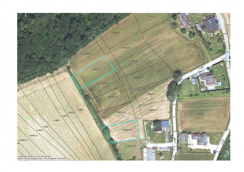 € 10,00/m² - Baugrundstücke im Ortsteil Deutsch Ehrensdorf /  / 7522Strem / Bild 2