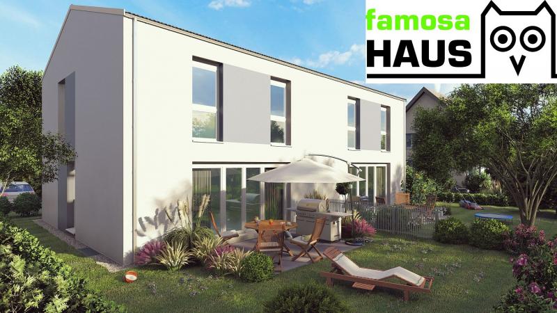 Home Office im eigenen Garten: Ziegelmassivhaus, vollunterkellert mit Terrasse und Eigengrund.