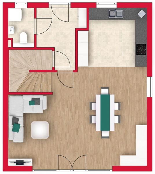 Ziegelmassives Einzelhaus mit Traumgarten: 4 Zimmer, Keller, Terrasse und Eigengrund. /  / 3034Maria Anzbach / Bild 5