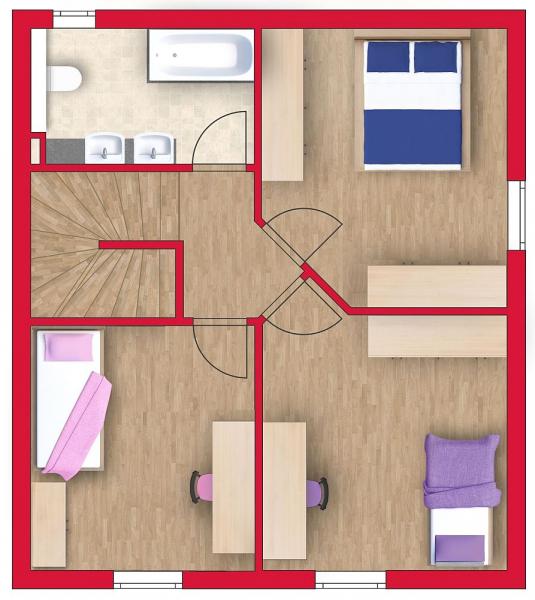 Ziegelmassives Einzelhaus mit Traumgarten: 4 Zimmer, Keller, Terrasse und Eigengrund. /  / 3034Maria Anzbach / Bild 6