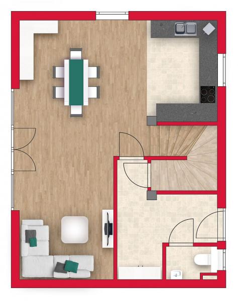 Ziegelmassive Doppelhaushälfte: 101m² Wohnfläche, 54m² Keller, Sonnengarten und 2 Parkplätze. /  / 2434Götzendorf an der Leitha / Bild 6