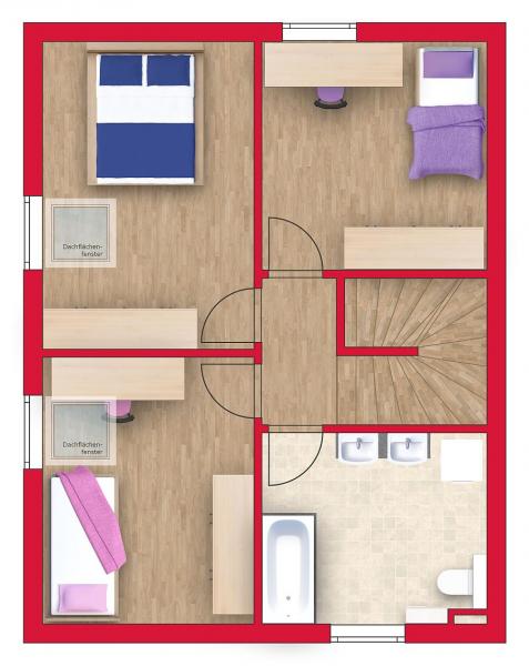 Ziegelmassive Doppelhaushälfte: 101m² Wohnfläche, 54m² Keller, Sonnengarten und 2 Parkplätze. /  / 2434Götzendorf an der Leitha / Bild 7