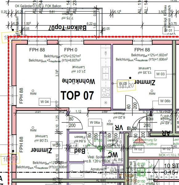 Moderner NEUBAU, 3-Zimmer-Wohnung in Pixendorf, Wohnen im Grünen m. perfekter Anbindung an die Stadt (A07) /  / 3441Pixendorf / Bild 8