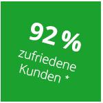 92 % zufriedene Kunden