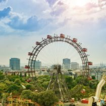 Blick aufs Wiener Riesenrad im 2. Bezirk