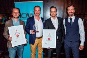 Auszeichnung IMMMO Award: Top 3 mit Sieger FindMyHome.at in der Mitte
